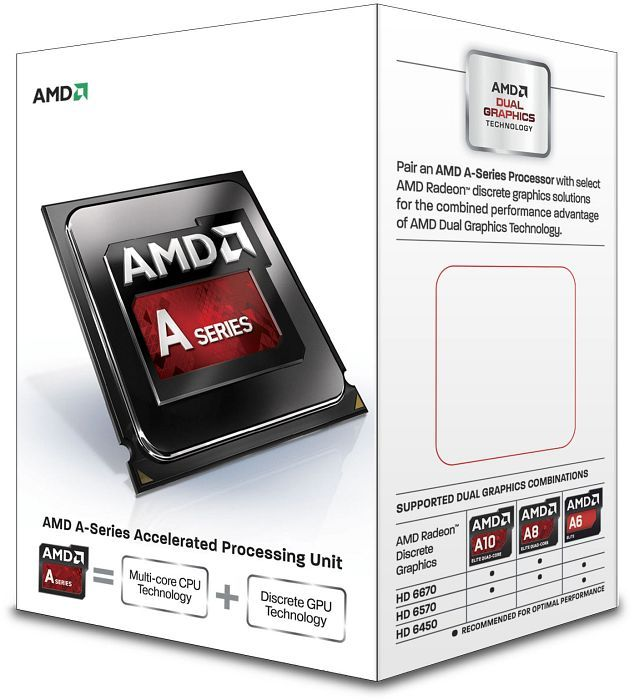 AMD A4-6300, 2x 3.70GHz, boxed (AD6300OKHLBOX)