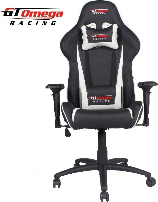 GT Omega Racing Pro Next gaming chair, black/white (OC-F0015)