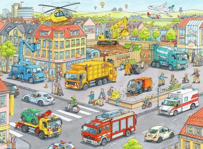 Ravensburger Puzzle Fahrzeuge in der Stadt 100XXL (10558)