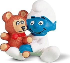 Schleich The Smurfs - Babysmurf With Bear (20205)