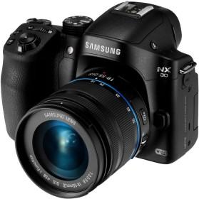 Samsung NX30 schwarz mit Objektiv NX 18-55mm OIS III i-Function