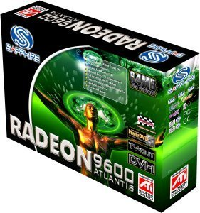 Sapphire Atlantis Radeon 9600, 128MB DDR, VGA, DVI, TV-out, AGP, bulk/lite retail (11019-00-10/20)