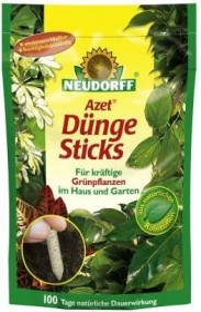 Neudorff Azet fertiliser sticks for foliage plants, 40 pieces (00278)