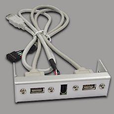 """Cooler Master USB/FireWire Front Einschub 3.5"""", Alu"""