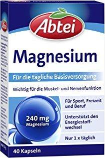 Abtei Magnesium Kapseln, 40 Stück -- © ApoMedifot.de