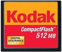 Kodak CompactFlash Card [CF] 512MB (8567216)