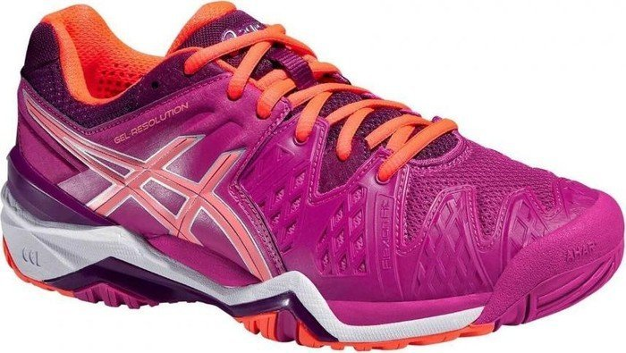 e4b2ffded8 Asics gel-resolution 6 purple/orange (ladies) (E550Y-2106) starting ...