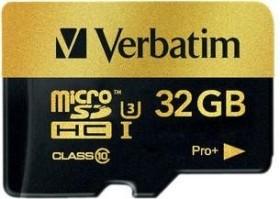 Verbatim Pro+ R90/W80 microSDHC 32GB Kit, UHS-I U3, Class 10 (44033)