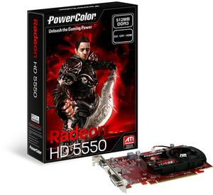 PowerColor Radeon HD 5550, 512MB DDR3, VGA, DVI, HDMI (AX5550 512MK3-H/R83K-RE3)
