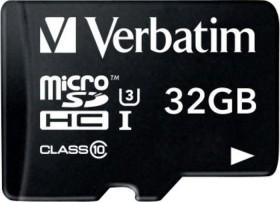 Verbatim Pro U3 R90/W45 microSDHC 32GB Kit, UHS-I U3, Class 10 (47041)