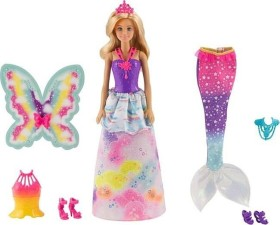 Mattel Barbie Dreamtopia Doll with 3 Fairytale Costumes (FJD08)