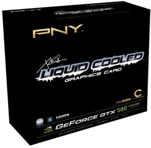 PNY GeForce GTX 580 XLR8 Liquid Cooled, 1.5GB GDDR5, 2x DVI, mini HDMI (KF580GTXWB1BEPB)