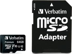 Verbatim Premium microSDXC 64GB Kit, UHS-I, Class 10 (44084)