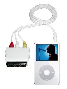 Artwizz audio/video cable incl. SCART adapter for iPod -- www.artwizz.com