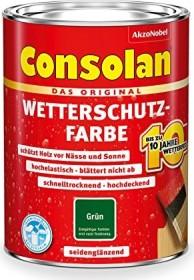 Consolan Wetterschutz-Farbe außen Holzschutzmittel grün, 2.5l