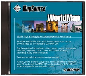 Garmin digital cards on CD (grid) world map 1:4.000.000
