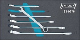 Hazet 163-97/6 mouth-ratchet wrench, 6-piece.