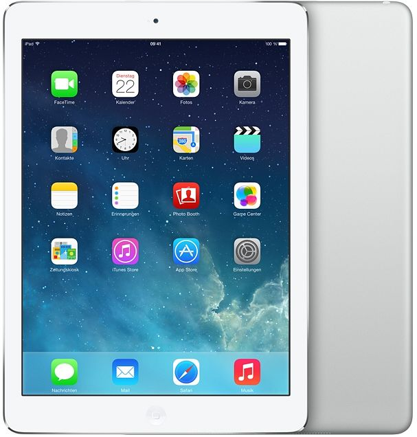 Apple iPad Air 16GB weiß/silber (MD788FD/A)
