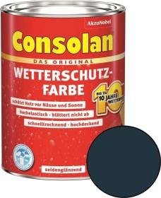 Consolan Wetterschutz-Farbe außen Holzschutzmittel anthrazitgrau, 2.5l