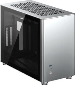Jonsbo A4 silber, Glasfenster, Mini-ITX (A4 Silver)