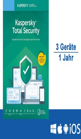 Kaspersky Lab Total Security 2020, 3 User, 1 Jahr, FFP (deutsch) (Multi-Device) (KL1949G5CFS-20-FFP)