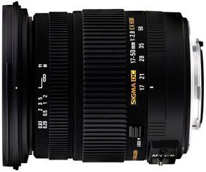 Sigma AF 17-50mm 2.8 EX DC OS HSM für Canon EF schwarz (583954)