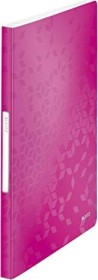 Leitz WOW Sichtbuch mit 40 Klarsichthüllen, pink (46320023)