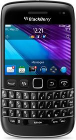 BlackBerry Bold 9790 mit Branding -- The RIM and BlackBerry families of related marks, images and symbols are the exclusive properties of, and trademarks of, Research In Motion – used by permission.