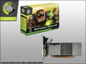 Point of View GeForce 8400 GS OC passive, 512MB DDR2, VGA, DVI, HDMI (R-VGA150853H-P)