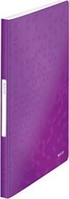 Leitz WOW Sichtbuch mit 40 Klarsichthüllen, violett (46320062)