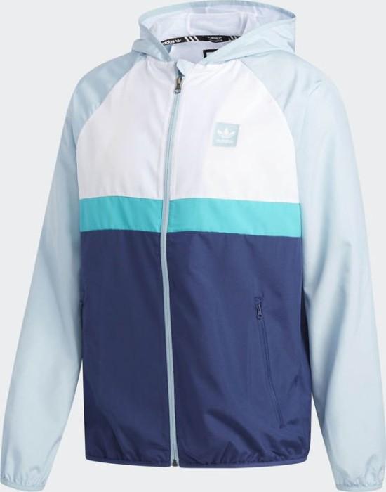 283fe4caba2f adidas Blackbird Windbreaker Jacket white ash grey shock green (men ...
