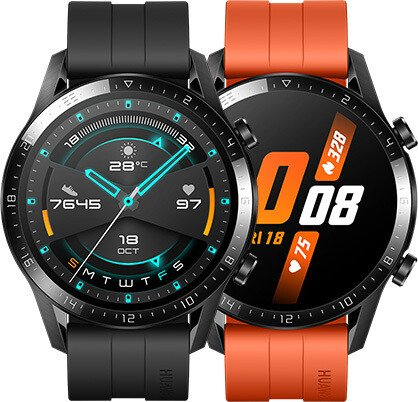 Huawei Watch GT 2 Sport 46mm schwarz mit Sportarmband matte black (55024316/55024474)