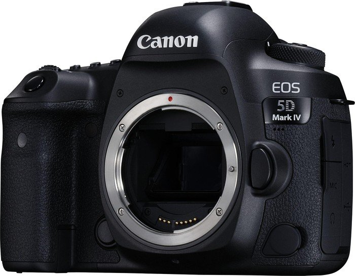 Canon EOS 5D Mark IV black with third-party manufacturer lens