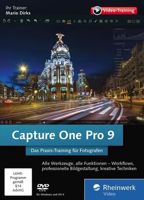 Rheinwerk Verlag: capture One Pro 9 - Das Praxis-training for photographers (German) (PC/MAC)