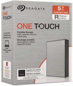 Seagate One Touch Portable HDD Silver +Rescue 5TB, USB 3.0 Micro-B (STKC5000401)