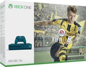 Microsoft Xbox One S - 500GB FIFA 17 Bundle blau