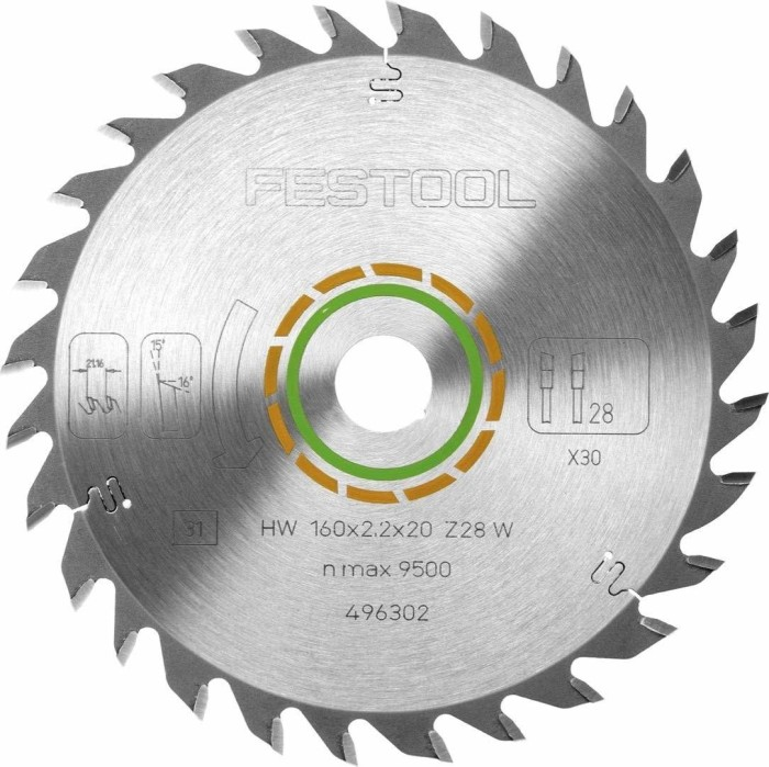 Festool universal circular saw blade 160x2.2x30mm 28Z, 1-pack (496302)