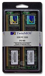 TwinMOS DIMM Kit     512MB, DDR-400, CL2