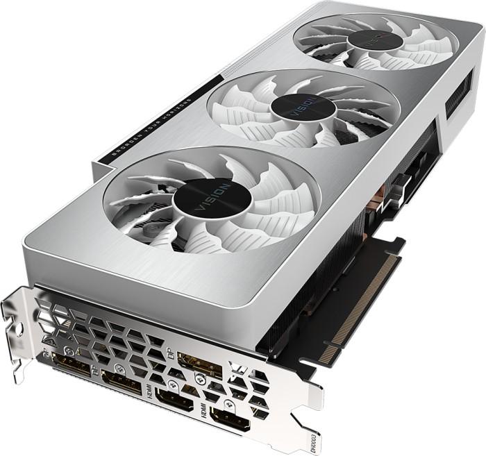 GIGABYTE GeForce RTX 3080 Vision OC 10G (Rev. 2.0) (LHR), 10GB GDDR6X, 2x HDMI, 3x DP (GV-N3080VISION OC-10GD 2.0)