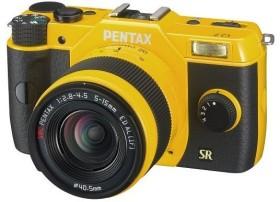 Pentax Q7 gelb mit Objektiv 5-15mm 2.8-4.5 und 15-45mm 2.8 (11564)