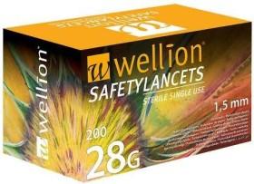 Wellion SafetyLancets 28G Lanzetten, 100 Stück