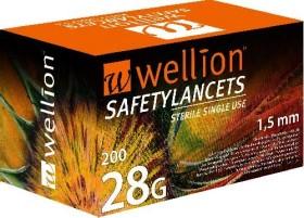 Wellion SafetyLancets 28G Lanzetten, 200 Stück