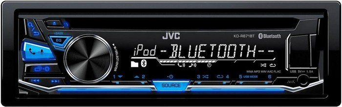 JVC KD-R871BT und Lenkrad Fernbedienung Adapter Alfa Romeo 147 Autoradio Einbauset *Anthrazit* inkl
