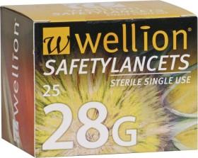 Wellion SafetyLancets 28G Lanzetten, 25 Stück