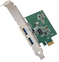 Western Digital USB Adapter, 2x USB 3.0, PCIe x1 (WDBFNJ0000NNC-WASN)