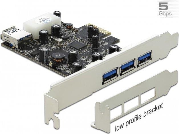 DeLOCK 4x USB 3.0, PCIe 2.0 x1 (89281)