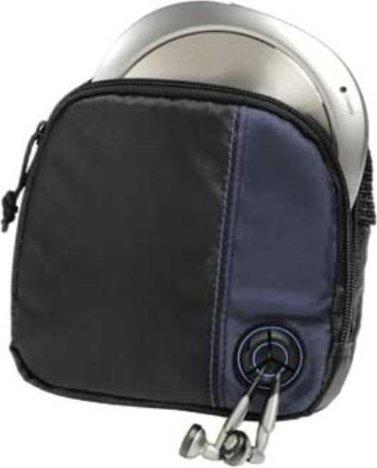 Hama CD-Player-Bag für Discman und 3 CDs CD/DVD-Tasche schwarz/blau ...