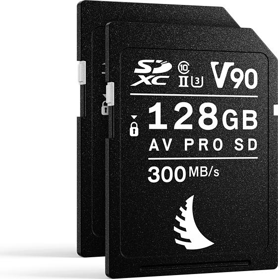Angelbird AV PRO SD MK2 V90 R300/W280 SDXC 128GB, UHS-II U3, Class 10, 2er-Pack (AVP128SDMK2V90X2)