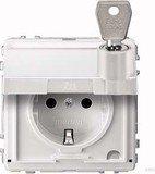 Merten Aquadesign SCHUKO-Steckdose, polarweiß (MEG2317-7219)