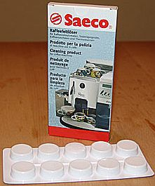 Saeco coffee fat remover cleaning tablets, 10 pieces